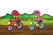 Illustration of people racing dirtbikes - EPS VECTOR format also available in my portfolio.