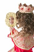 picture of cute little girl  - The image of the girl in a suit princesses  - JPG
