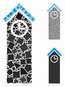 Time Tower Composition Of Tremulant Pieces In Various Sizes And Color Tones, Based On Time Tower Ico poster
