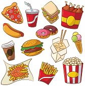Fast Food Icon Set