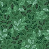 Wrapping Tea Leaves Pattern Seamless Vector. Minimal Tea Plant Bush Leaves Floral Fabric Print. Herb poster