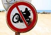 No Motorcycles Sign