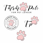 Pets Spa Logo Template Design For Pet Lovers. Full Set Logo Template. poster
