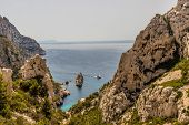Calanques Marseille France. June 24 2019. A View Of Calanques In Marseille France poster