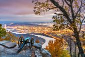 Chattanooga, Tennessee, USA view from Lookout Mountain at twilight. poster