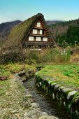 Historic Villages Of Shirakawa-go, One Of The World Historic Site Of Japan. poster