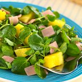 Watercress, Pineapple and Ham Salad