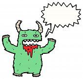cartoon furry monster cartoon poster