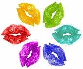 Lipstick Kisses In Color