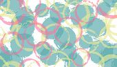Unique Painted Circles Geometry Fabric Print. Round Shape Blob Overlapping Elements Vector Seamless  poster