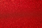 Festive Abstract Red Glitter Texture Background. Colorful Background With Glittering And Sparkling S poster