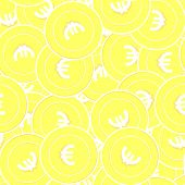 European Union Euro Gold Coins Seamless Pattern. Superb Scattered Yellow Eur Coins. Success Concept. poster