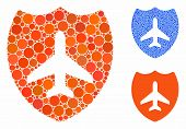 Aviation Shield Mosaic Of Spheric Dots In Variable Sizes And Color Tints, Based On Aviation Shield I poster