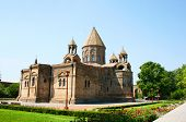 stock photo of apostolic  - Mother Cathedral of Holy Etchmiadzin one of the oldest churches in the world it was first built by Saint Gregory the Illuminator as a vaulted basilica in 301 - JPG