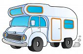 image of camper-van  - Cartoon camping van  - JPG