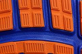 Red Blue Plastic Texture Of A Piece Of The Sole On The Shoe poster