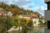View Of Old Town And Aare River On A Sunny Autumn Day. Town Of Brugg, Swiss Canton Of Aargau, Switze poster