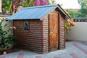 Garden shed for the tools and gardening objects in South Africa commonly called Wendy House poster