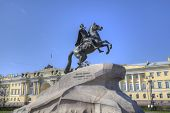 The Bronze Horseman - monument in St Petersburg, Russia