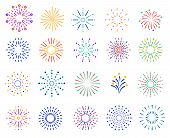 Color Fireworks. Festive Sparkles, Carnival Salutes. Birthday Party And Christmas Vibrant Firecracke poster