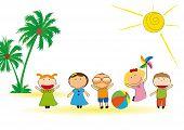 As crianças Verão
