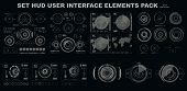 Futuristic Hud Virtual Graphic Touch User Interface, Hud Interface Elements. Hud Dashboard Display poster