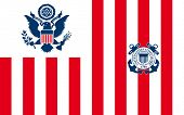 United States Navy Ensign or flag in official colors.