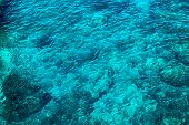 Seething Mediterranean Sea Water, Top View In The Open Sea poster