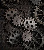 rusty gears metal background