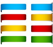 Vector set of multicolored paper labels.