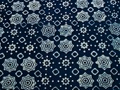 foto of batik  - Blue batik fabric with repettition pattern as background from Yogyakarta Indonesia - JPG