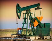 stock photo of nonrenewable  - Oil Pump - JPG