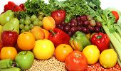 picture of fruits vegetables  - delicious fesh fruits and vegetables for a healthy and balanced diet - JPG