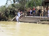 Qasr Al-yahud, Israel - March 05: Pilgrims Are Baptized In The