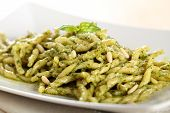 Italian pasta with pesto genovese
