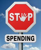 stock photo of budget  - stop spending money on useless things - JPG
