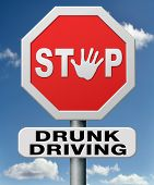 stop drunk driving, don't drink and drive with an alcohol intoxication. Prevention against irrespons
