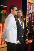 LOS ANGELES - MAR 11:  Jim Carrey, Steven Tyler arrive at the World Premiere of
