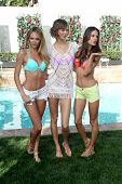 LOS ANGELES - MAR 12:  Candice Swanepoel, Karlie Kloss, Alessandra Ambrosio at the Victoria's Secret