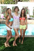 LOS ANGELES - MAR 12:  Candice Swanepoel, Karlie Kloss, Alessandra Ambrosio at the Victoria's Secret 2013 Swim Collection Debut at the Private Residence on March 12, 2013 in Beverly Hills, CA