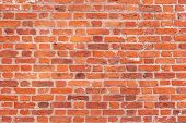 foto of stonewalled  - Image of cracked wall of red bricks - JPG