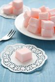 Homemade Pink Marshmallows Selective Focus