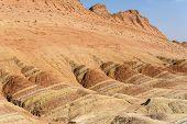 bunte Danxia Landschaftsformen in Zhangye, Gansu, China