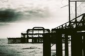 Remains Of Brighton West Pier