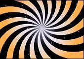 Swirl Orange And Black.