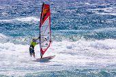 Windsurfing On Gran Canaria.