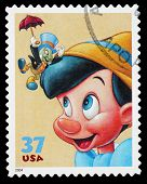 Disney Pinnocchio Postage Stamp