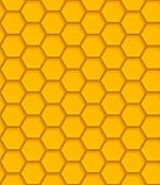 image of beehives  - illustration of geometric colorful beehive seamless pattern - JPG