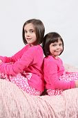 foto of little girls photo-models  - Adorable little girls posing for photos in PJ - JPG