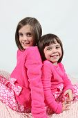 pic of little girls photo-models  - Adorable little girls posing for photos in PJ - JPG